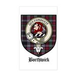 Borthwick Clan Crest Tartan Rectangle Sticker