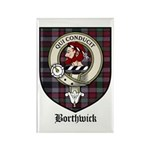 Borthwick Clan Crest Tartan Rectangle Magnet (10 p