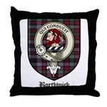 Borthwick Clan Crest Tartan Throw Pillow