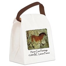 cave horse paintings Canvas Lunch Bag