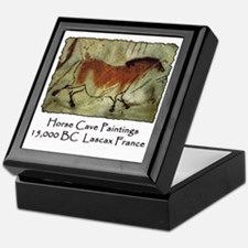 cave horse paintings Keepsake Box