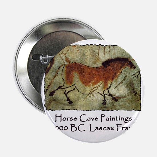 """cave horse paintings 2.25"""" Button"""