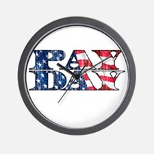 May Day is Pay Day Wall Clock