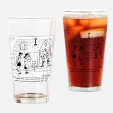 6333_elvis_cartoon Drinking Glass