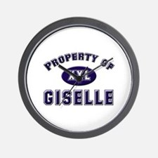 Property of giselle Wall Clock