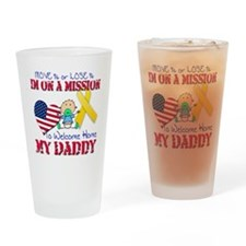 Welcome Home Daddy Baby Drinking Glass