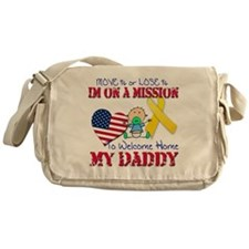 Welcome Home Daddy Baby Messenger Bag