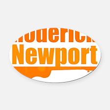 Roderick Newport Oval Car Magnet