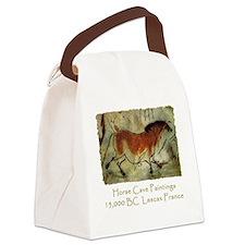 cave horse black Canvas Lunch Bag