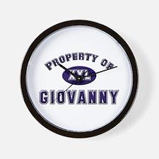 Property of giovanny Wall Clock