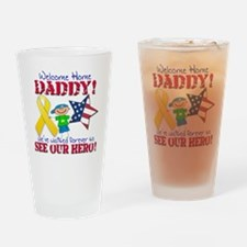Welcome Home Daddy Boy Drinking Glass