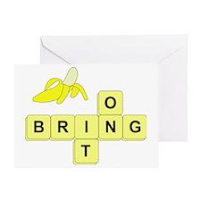 BananaGram_horizontal_bring_v2 Greeting Card