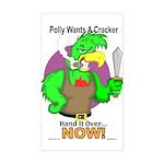 Polly Wants A Cracker Sticker