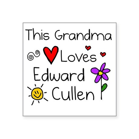 "This Grandma Square Sticker 3"" x 3"""