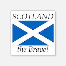 """Scotland Square Sticker 3"""" x 3"""""""
