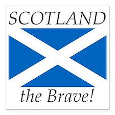 """Scotland Square Car Magnet 3"""" x 3"""""""