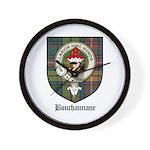 Bouchannane Clan Crest Tartan Wall Clock