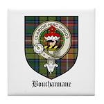 Bouchannane Clan Crest Tartan Tile Coaster