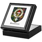 Bouchannane Clan Crest Tartan Keepsake Box