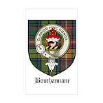Bouchannane Clan Crest Tartan Sticker (Rectangular