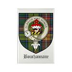 Bouchannane Clan Crest Tartan Rectangle Magnet (10
