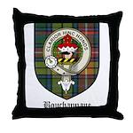 Bouchannane Clan Crest Tartan Throw Pillow