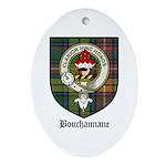 Bouchannane Clan Crest Tartan Oval Ornament