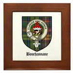 Bouchannane Clan Crest Tartan Framed Tile