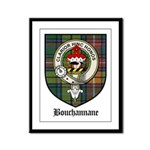 Bouchannane Clan Crest Tartan Framed Panel Print