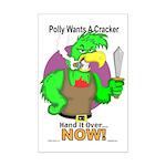 Polly Wants A Cracker Mini Poster Print