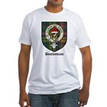 Bouchannane Clan Crest Tartan Fitted T-Shirt