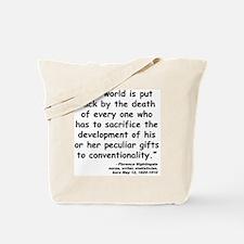 Nightingale Quote Tote Bag