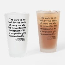 Nightingale Quote Drinking Glass