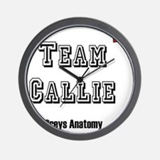 team callie heart Wall Clock
