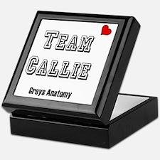 team callie heart Keepsake Box