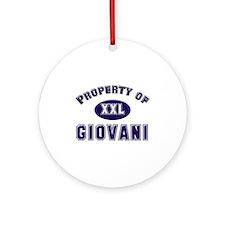 Property of giovani Ornament (Round)