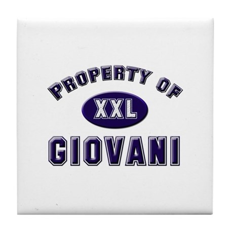 Property of giovani Tile Coaster