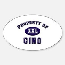 Property of gino Oval Decal