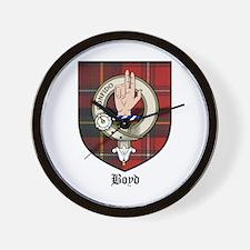 Boyd Clan Crest Tartan Wall Clock