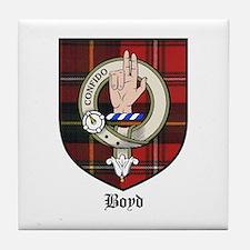 Boyd Clan Crest Tartan Tile Coaster