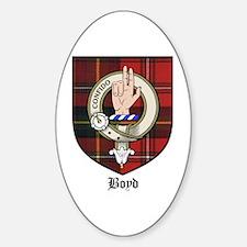 Boyd Clan Crest Tartan Oval Decal