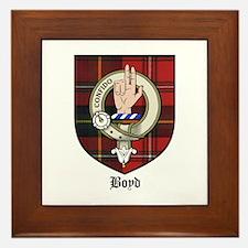 Boyd Clan Crest Tartan Framed Tile