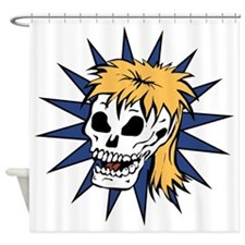 Skull With A Mullet Shower Curtain