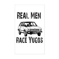 Real Men Race Yugo's Rectangle Decal