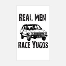 Real Men Race Yugo's Rectangle Decal