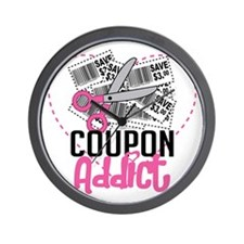 Coupon-Addict Wall Clock