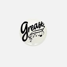grease for white t-shirts Mini Button