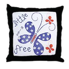little miss free2 Throw Pillow