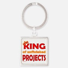 KingOfUnfinishedProjects Square Keychain
