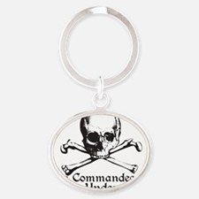 commendeered Oval Keychain